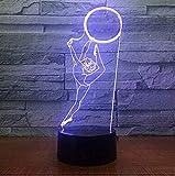 Led Veilleuse 7 Couleurs Veilleuses USB 3D Led Lampe De Table Gymnastique Modélisation Chambre Sommeil Luminaire Décor Gymnaste Fans Cadeaux3D Illusion D'optique Lampe Toddler Lits