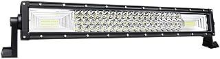 AUXTINGS 22 pulgadas 270W triple fila 7D LED barra de luz de trabajo Spot Flood Combo Beam DC 12V-24V 6000K vehículos todoterreno 4x4 Atvs Utvs