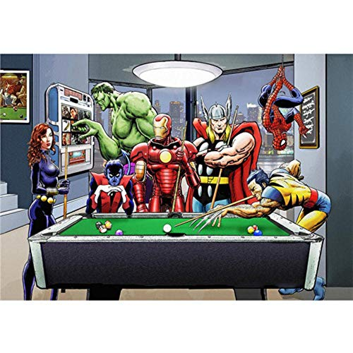 Póster de la película de Superheros Marvel DC Comics Hot Movie Poster Art Moderno Hogar Lienzo Cuadro de pared Cuadro de pared para sala de estar, 5, 13x18cm No Frameed
