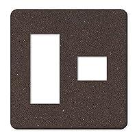 【2連4口】 ANA-Lyn 完全国内受注生産 オリジナルデザイン コンセントカバー コンセントプレート 木目調 ウッド柄 壁 コスモシリーズ ワイド21 WTF7074W aoc0088