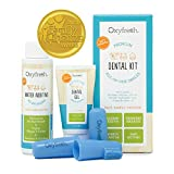 Oxyfresh Premium Pet Dental Kit from Fight Bad Breath in Dogs & Cats - Easy Safe & Effective Solution - Travel Size - Unflavored Pet Toothpaste, Pet Fingerbrush, and Pet Water Additive