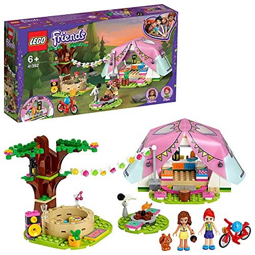 TANGLANGZ Lego 41392 Friends Camping in Heartlake City Set mit Mini Puppen Olivia & Mia und Zelt, Spielzeug ab 6 Jahren für Mädchen und Jungen