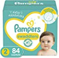 Diapers Size 2, 84 Count - Pampers Swaddlers Disposable Baby Diapers, Super Pack