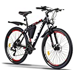 Corelli Dark Mountainbike 29 Zoll, 27,5 Zoll 26 Zoll 24 Zoll mit Aluminium-Rahmen, Shimano 21...