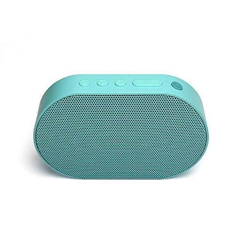 qiyanBluetooth Columna Altavoz portátil Bluetooth Altavoz Mini WiFi Altavoz inalámbrico Barra de Sonido Caja de Sonido Trabajar con Amazon Alexa-in Ai Altavoces Azul