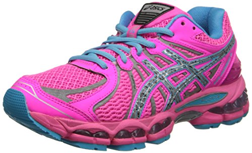 ASICS Women's Gel-Nimbus 15 Running Shoe,Hot Pink/Lightning/Blue,12 M US