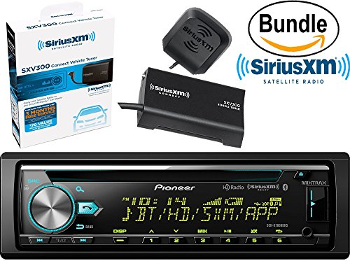 Pioneer DEH-X7800BHS CD Receiver with Enhanced Audio Functions, HD Radio, Bluetooth Hands-Free Calling and Wireless Audio Streaming & SiriusXM SXV300V1 Tuner and Antenna (SiriusXM Value Bundle)
