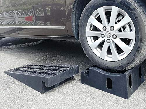 Eastwood Detachable Removable Poly Black Car Ramp Set with 3.6 Tons Load Rating
