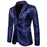 Homebaby Uomo Blazer Classic Fascino Blazer Un Pulsante Uomo Giacca da Abito Elegante Fies...