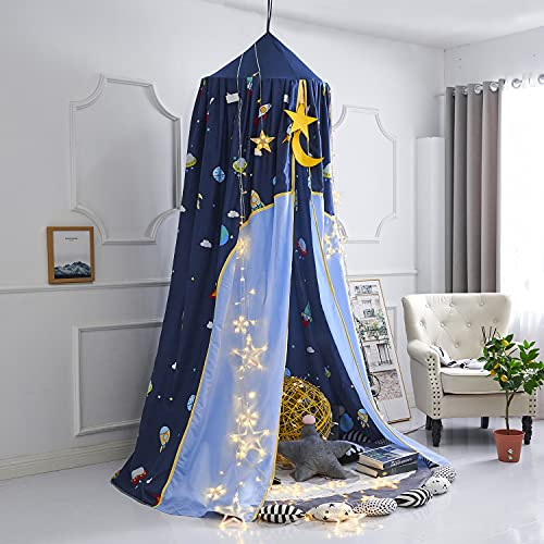 Mengersi Galaxy Bed Canopy Play Tent Mosquito Net,Lovely Castle Hanging House Decoration Reading Nook for Girls Boys