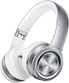 Bluetooth Foldable Headphones Over-Ear Bluetooth Headphones Low Latency Bluetooth Headset with Mic Deep Bass Noise Cancelling for PC/Cell Phones/TV,Gray