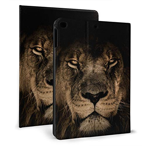 African Lion Mane Wildlife Leo Smart Case for Ipad 9.7 2018/2017 Lightweight Smart Cover with Auto Sleep/Wake,Hard Back Cover for Ipad 5th/6th Gen