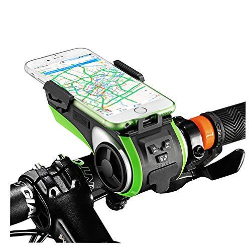 Fahrradlicht,IP5 Wasserdicht Freisprecheinrichtung Bluetooth Lautsprecher Set mit Led Vorne Fahrradbeleuchtung,4400mAh USB Aufladbar Powerbank,Fahrradglocke und Handyhalter für Fahrrad Zubehör,Lights