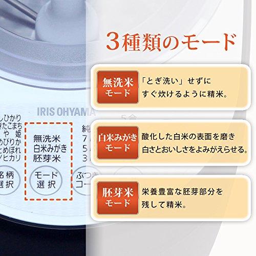 『アイリスオーヤマ 精米機 銘柄純白づき RCI-A5-B』の5枚目の画像