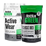 Rockin' Green Let's Get Physical Bundle - (1) Platinum Series Active Wear, 45 oz. bag, (1) Classic Rock Unscented Powder Laundry Detergent, 45 oz, All Natural, Non-Toxic, Vegan, Eco-Friendly, Stain &