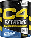 Cellucor C4 Extreme Pre Workout Powder Icy Blue Razz | Sugar Free Preworkout Energy Supplement for Men & Women | 200mg Caffeine + beta Alanine + Creatine | 60 Servings