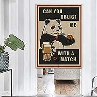 JOCAR パンダのれん おしゃれ 目隠し ング 遮光 のれん 玄関 キッチン リビング 飲食店 出入り口 幅85cm×丈150cm