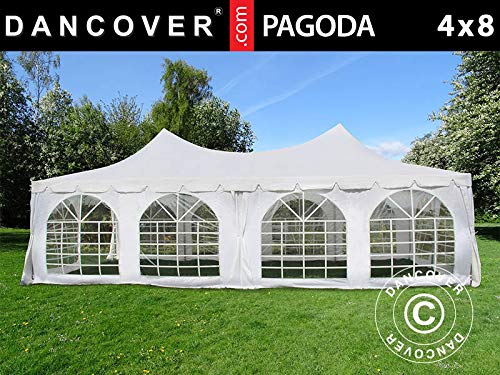 Dancover Partytent Pagoda 4x8m, Wit