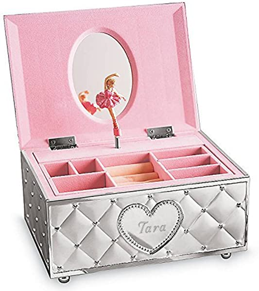 Lenox Childhood Memories Musical Ballerina Personalized Jewelry Box Jewelry Storage Chest Engraved Jewelry Box