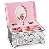 Lenox Childhood Memories Ballerina Jewelry Box Personalized, Custom Engraved Musical Jewelry Organizer for Girls