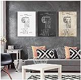 Impresión de póster Papel higiénico Patente Vintage Poster Baño Arte de la pared Impresiones Rollo de papel higiénico Plano Imagen del hogar Decoración 3x60x80cm sin marco