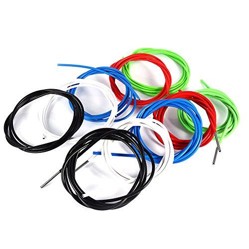 Fahrrad Bremszug Schaltzug Schaltseil Shifter Kabelgehäuse,2m Shifter Cable Fahrradbremse Shift Kabel Gehäuse Schlauch Kit Zubehör für Mountainbike (5mm- schwarz)
