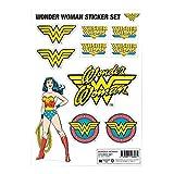 Wonder Woman Autocollant Sheet Classic Logo Nouveau Officiel Dc Comics A4 Set