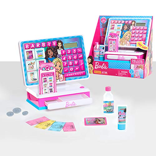 Barbie Deluxe Cash Register with Sounds, 12-pieces
