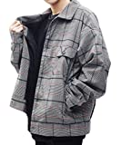 G.O.C(ジーオーシー) スウィングトップ メンズ ジャケット カバーオール ブルゾン チェック柄 M グレー