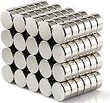 FINDMAG 50 Pcs 6 x 3 mm Fridge Magnets, Multi-Use Refrigerator Magnets, Magnets for Whiteboard,...