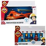 Fireman Sam Mountain Rescue Helicopter & 5 Figura articolato Set