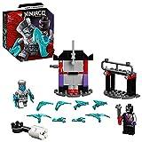LEGO NINJAGO Battaglia Epica - Zane vs Nindroid Robot Guerriero, Giocattolo da Battaglia Rotante con 2 Minifigure, 71731