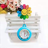 Reloj de enfermería,Reloj de Bolsillo retráctil de Silicona para médicos y Enfermeras, Reloj de Pecho para exámenes de Estudiantes, Color de Tela,Broche de Reloj de Bolsillo
