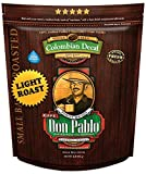2LB Don Pablo Colombian Decaf Light Roast - Swiss Water Process Decaffeinated - Light Roast Whole Bean Coffee - Low Acidity - 2 Pound (2 lb) Bag