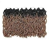 Eunice 6Packs Wavy Faux Locs Crochet Hair...