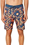 O'NEILL Men's Water Resistant Hyperfreak Stretch Swim Boardshort, 19 Inch Outseam (Slate/Sunburst, 36)