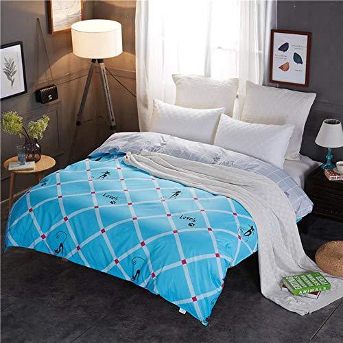 Miwaimao Single-Piece Quilt Quilt University Student Dormitory With Single Double,Imprint Love,120cmx210cm
