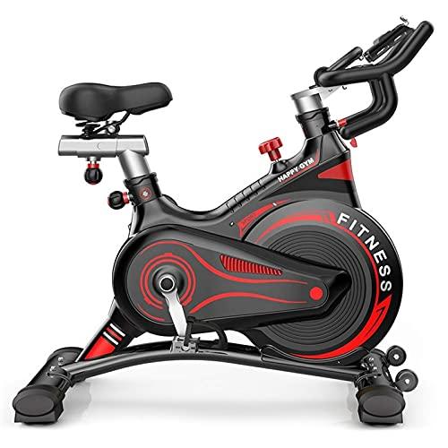Horno eléctrico Bicicleta giratoria para Interiores, Bicicleta silenciosa Ejercicio de Control magnético Entrenamiento de pérdida de Peso Equipo de Ejercicio Deportivo (Color: Negro Rojo)