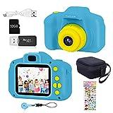 YunLone ToyZoom 1080P Macchina Fotografica per Bambini 5MP Bambini Fotocamera Digitale Portatile Mini DV Videocamera per Bambine 2 Pollici IPS – Blu
