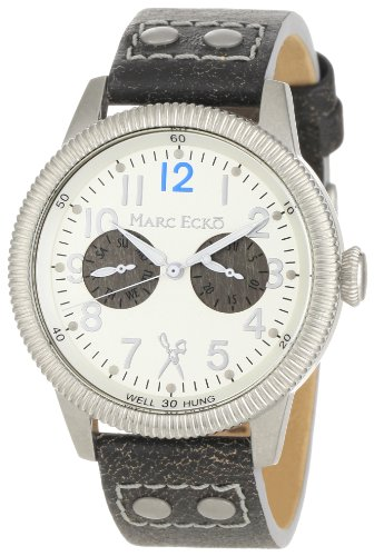 Marc Ecko Reloj Análogo clásico para Hombre de Cuarzo con Correa en Cuero E13513G1