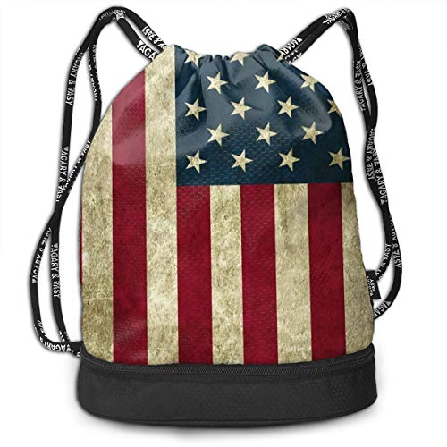 Unisex Waterproof Drawstring Bag Durable Comfortable Best USA Made Pillows Pattern String Bag Lightweight Drawstring Backpack for Gym Sport Travel Shopping