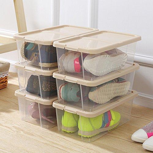 Combinaison en plastique épais de Boîte de rangement pour chaussures Shoebox Boîte pour hommes et femmes Shoebox Boîte de rangement pour chaussures Proof (couleur : Kaki)