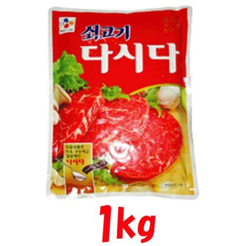 【韓国食品‐調味料】 韓国の食材料  ★牛肉ダシダ 1kg ★
