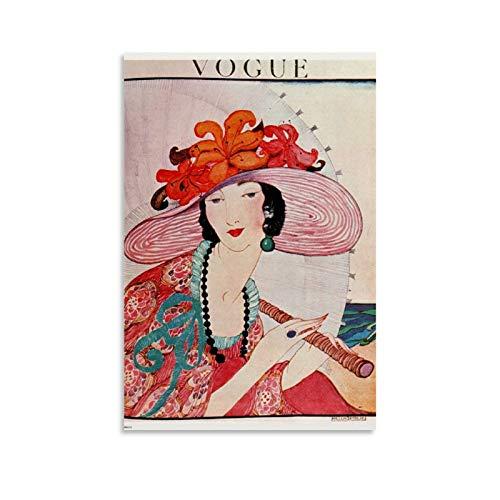 ERTEF - Poster vintage Vogue su tela e stampa artistica da parete, 40 x 60 cm