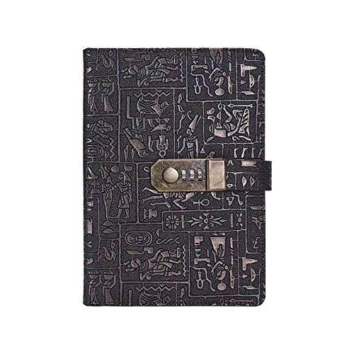 Libro de códigos retro con candado, libro de contraseñas, diario, cuaderno de bocetos personal, para administrar el nombre de usuario, la contraseña y la privacidad del cuaderno