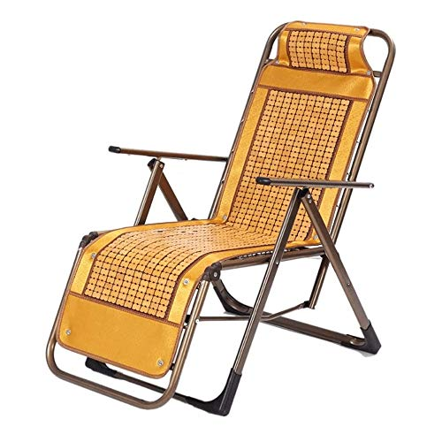 Bamboe ligstoelen, Green Bamboo Balkon Simple Chair, Balkon Opvouwbare Lounge Chair Nap Chair Casual Oud Lazy Lounge Chair Opvouwbare (Maat: 60x47.5x63cm)
