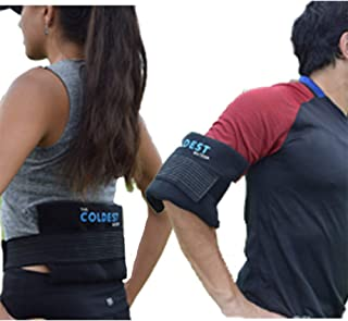 The Coldest Ice Pack 2 Flexible Gel Ice Pack and 1 Wrap with Elastic Strap Only for Cold..