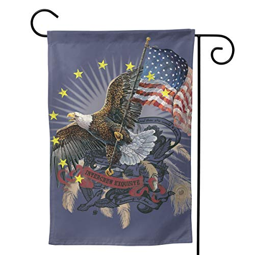 """UTWJLTL Garden Flag American Flag Eagle Decorative Flag Double Sided 12.5"""" X 18"""" Weather Resistant Outdoor Welcome Flag for Yard Patio Garden Outdoor Decor"""