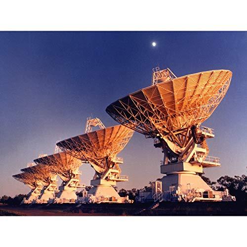 Csiro ruimte vijf telescoop antennes Narrabri Nsw foto ingelijst muur kunst afdrukken