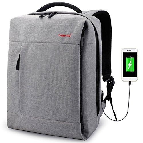 Tigernu Business laptop zaino/borsa da viaggio leggero resistente all' acqua/adatto fino a 1435,8cm MacBook del computer zaino Light Gray 16.1' Hx11.8 Lx6.7 W